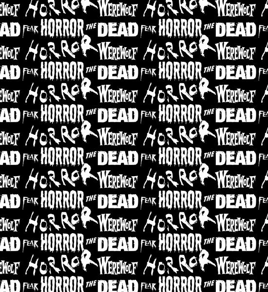 blackhorrortypographypattern Horror Words Seamless Photoshop And Vector Pattern