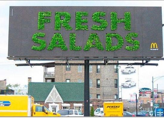 mcdonaldsfreshsaladbillboard 30 Extremely Creative Billboard Designs