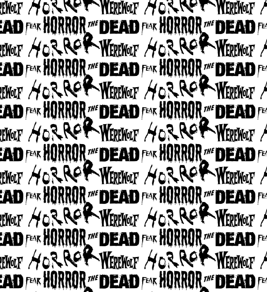 whitehorrortypographypattern Horror Words Seamless Photoshop And Vector Pattern