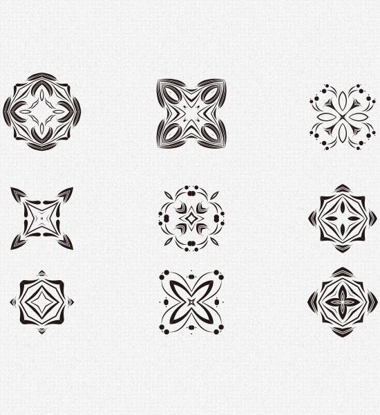 decorativevectorelementspreview Decorative Vector Pattern Elements Kit