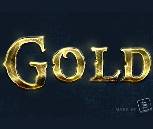 goldtexteffect 85 Best Photoshop Tutorials From 2012