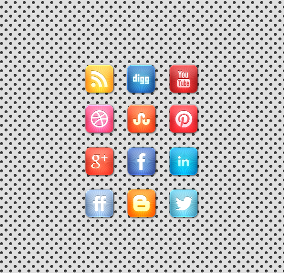 starburstsocialmediaiconset A Beautiful Free Vibrant Starburst Social Media Icon Set