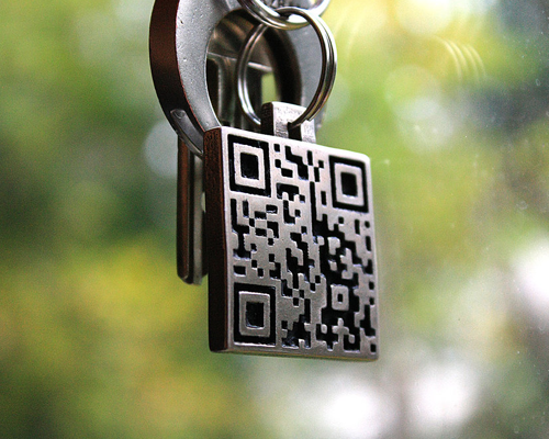 keyringqrcode 25 Smart And Creative Ways To Implement QR Codes