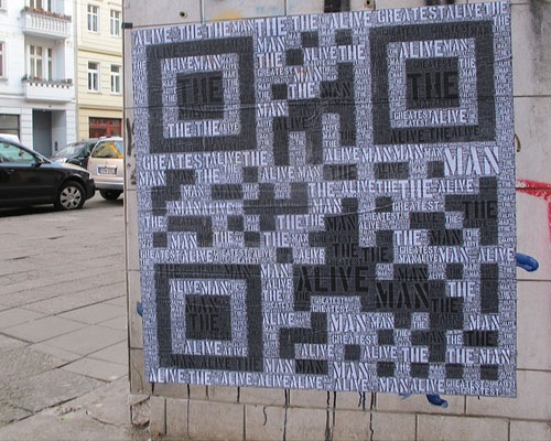 qrstreetposter 25 Smart And Creative Ways To Implement QR Codes