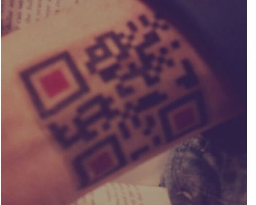 qrtattoo 25 Smart And Creative Ways To Implement QR Codes