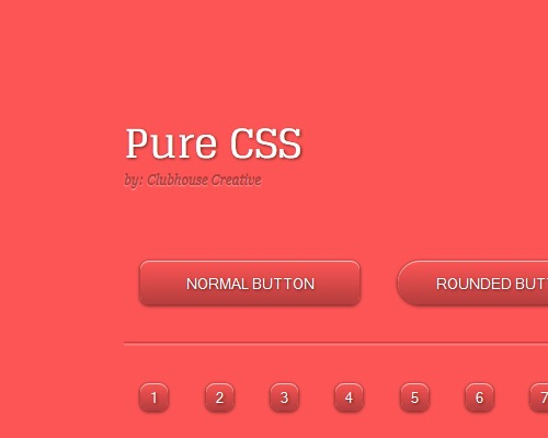 purecsskit 25 CSS3 Free Buttons For Designers