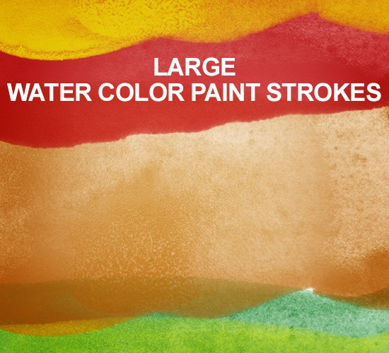 largewatercolorpaintstrokespreview Large Watercolor Paint Strokes Photoshop Brush Set