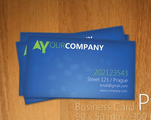 bluebusinesscard 25 Free Business Card Design Templates