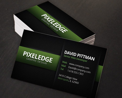 carbonfirbre 25 Free Business Card Design Templates