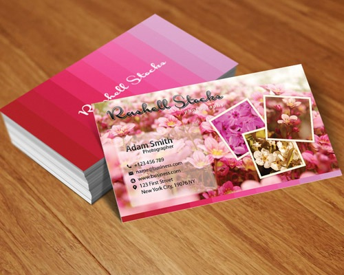 flowery 25 Free Business Card Design Templates