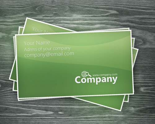 greenbusinesscard 25 Free Business Card Design Templates