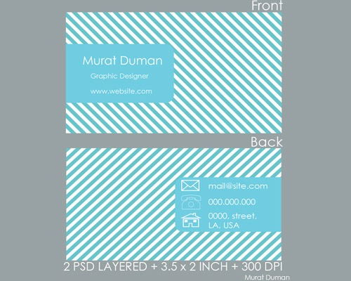 maratduham 25 Free Business Card Design Templates