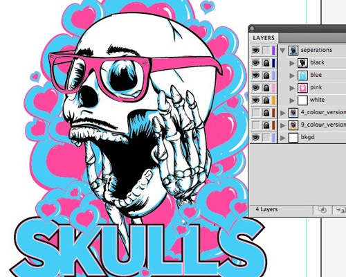 skulls 20 Tutorials For Creating T Shirt Designs
