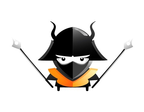 35 Draw an angry little samurai in Illustrator
