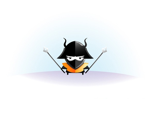 final Draw an angry little samurai in Illustrator