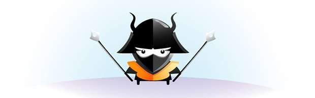 samurai Draw an angry little samurai in Illustrator