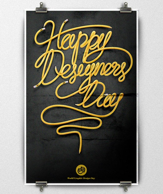 happydesignersday 50 Beautiful Poster Which Included Remarkable Typography