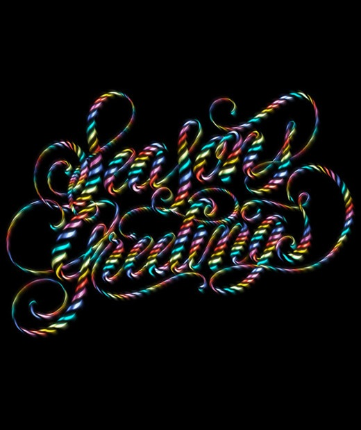 seasongreetings 50 Beautiful Poster Which Included Remarkable Typography