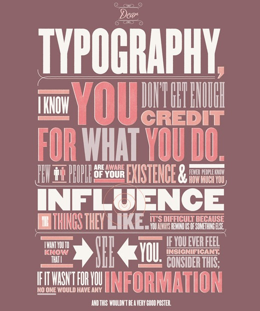 typographycreditposter 50 Beautiful Poster Which Included Remarkable Typography