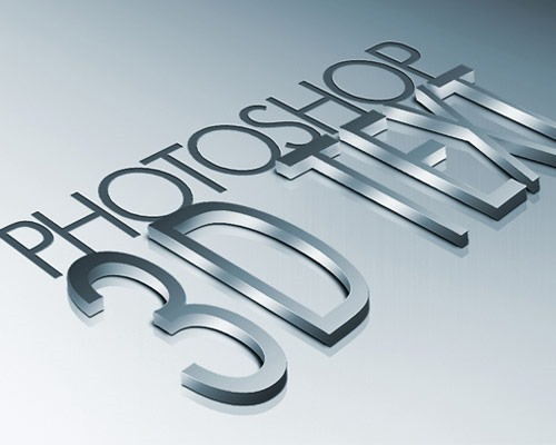 3d text effect 30 Best Ever Photoshop Tutorials For Creating 3D Text Effects