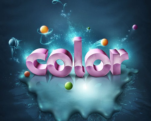 color thumb 30 Best Ever Photoshop Tutorials For Creating 3D Text Effects