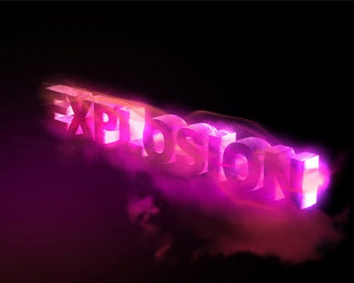 explosions thumb 30 Best Ever Photoshop Tutorials For Creating 3D Text Effects