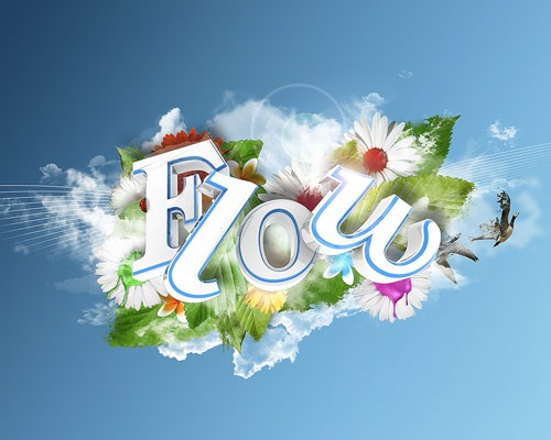 flow thumb 30 Best Ever Photoshop Tutorials For Creating 3D Text Effects