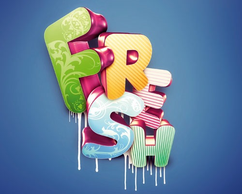 fresh 30 Best Ever Photoshop Tutorials For Creating 3D Text Effects