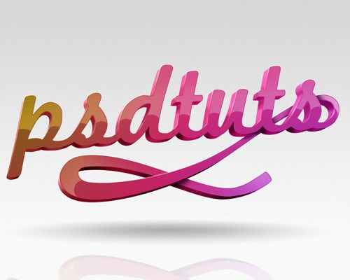 glossy 3d text effects thumb 30 Best Ever Photoshop Tutorials For Creating 3D Text Effects
