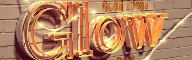 glow banner thumb 30 Best Ever Photoshop Tutorials For Creating 3D Text Effects