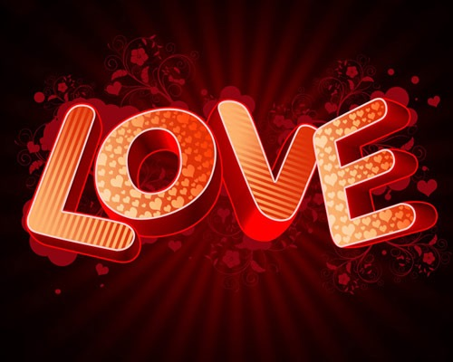 love thumb 30 Best Ever Photoshop Tutorials For Creating 3D Text Effects