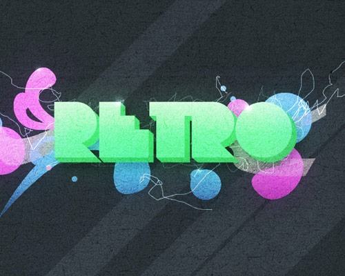 retro 30 Best Ever Photoshop Tutorials For Creating 3D Text Effects