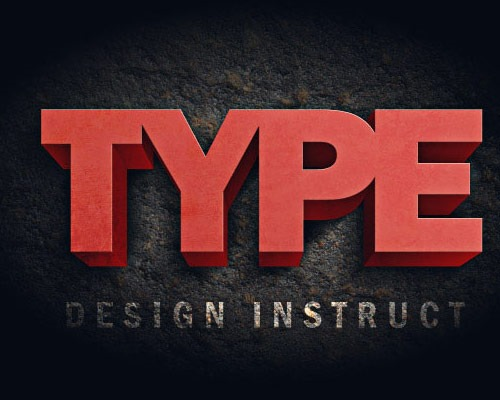 type thumb 30 Best Ever Photoshop Tutorials For Creating 3D Text Effects