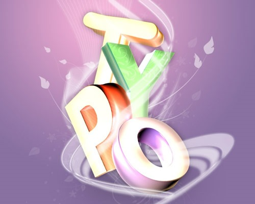 typo 3d thumb 30 Best Ever Photoshop Tutorials For Creating 3D Text Effects