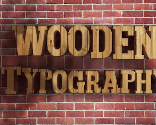 wooden type thumb 30 Best Ever Photoshop Tutorials For Creating 3D Text Effects