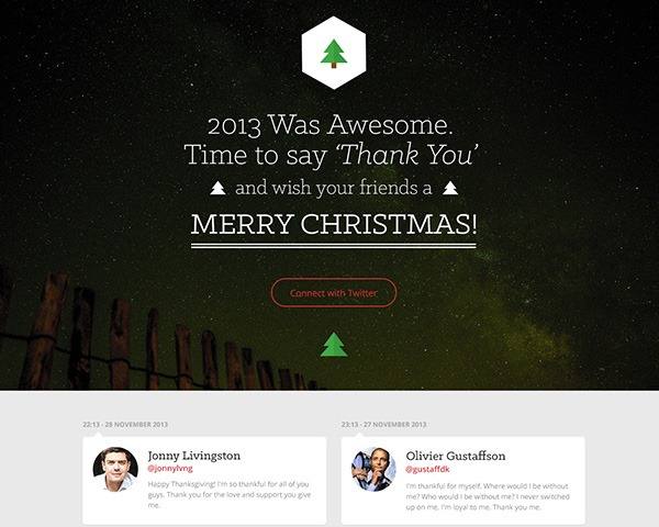 merry christmas thumb Best Of Web And Design In December 2013