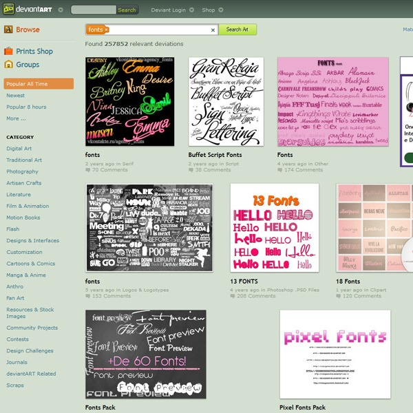 DEVIANT ART thumb 20 websites to find the best free fonts