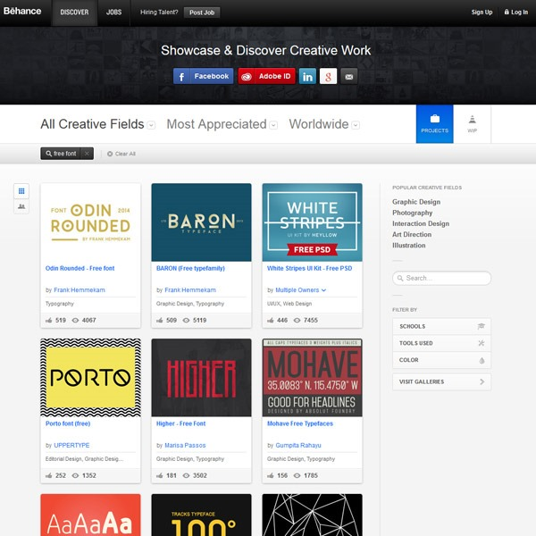 behance thumb 20 websites to find the best free fonts