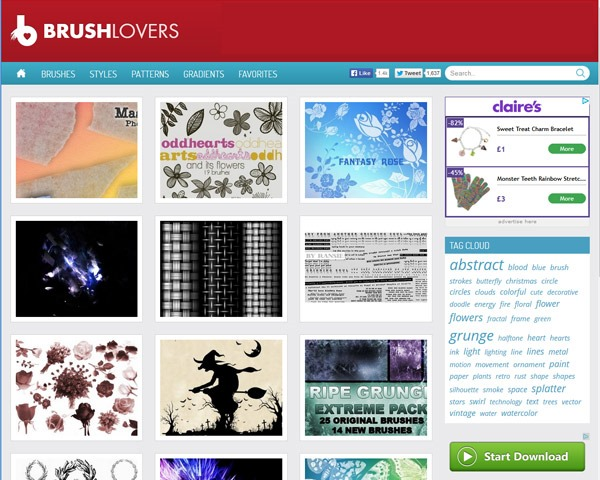 brush lovers thumb 10 Best sites for discovering amazing free Photoshop brushes