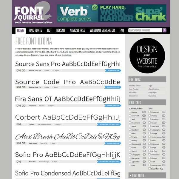 font squeil 20 websites to find the best free fonts