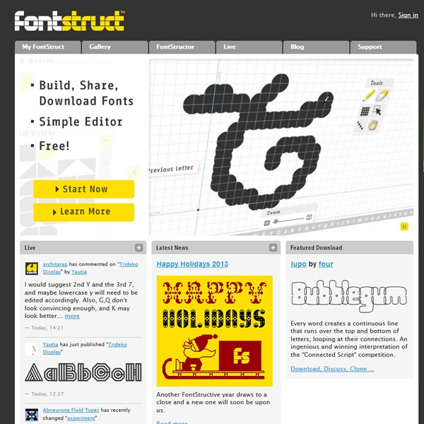 fontstruct thumb 20 websites to find the best free fonts