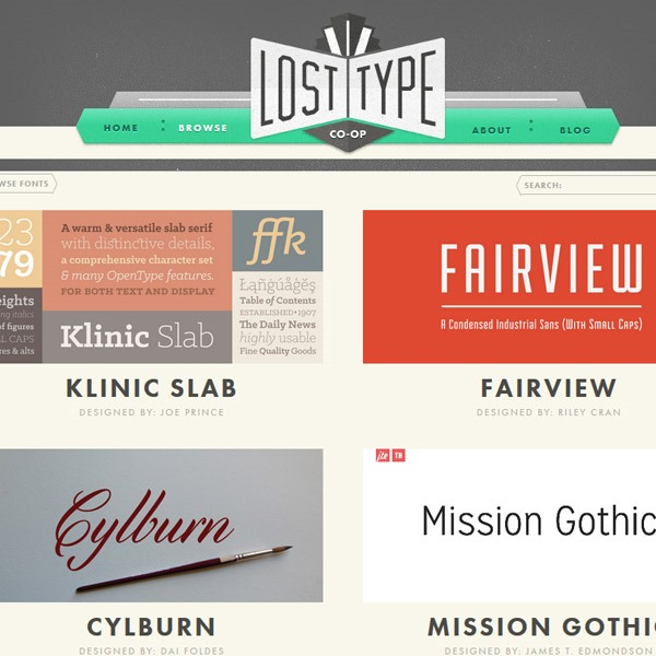 losttype thumb 20 websites to find the best free fonts