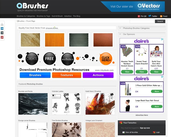 qbrushes thumb 10 Best sites for discovering amazing free Photoshop brushes