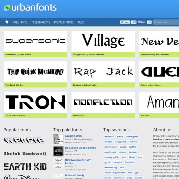 urban fonts thumb 20 websites to find the best free fonts