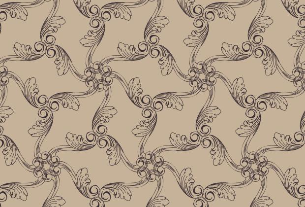 brown-vintage-ornament-pattern
