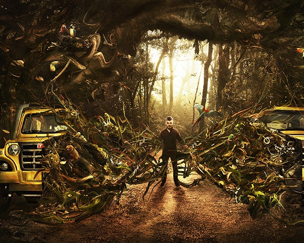 jungle thumb 60 Best Photoshop tutorials from 2014