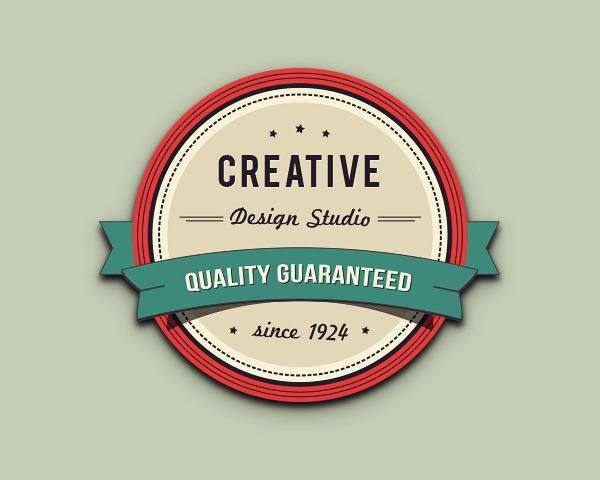 badge illustrator thumb 30 Fresh new illustrator tutorials from 2014
