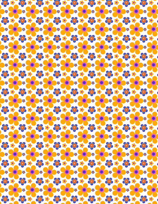 summer petal pattern preview thumb Orange Summer seamless petal vector pattern