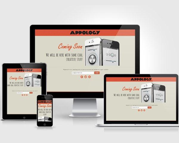 apolgy thumb 50 best free html responsive templates
