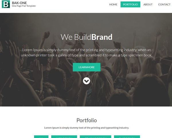 bakone 50 best free html responsive templates